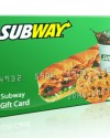 Free subway gift cards