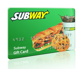 Free Subway gift cards - Get your Free Subway gift cards here